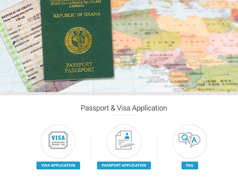 Ghana Missions Online Visa and Passport Web Application